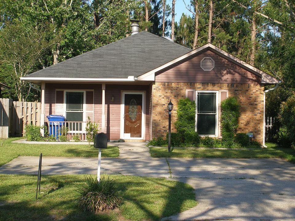 House, Brick Home, Residential, Construction, Suburban
