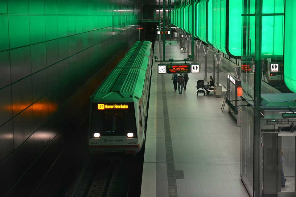 Hamburg, Harbour City, Subway Station
