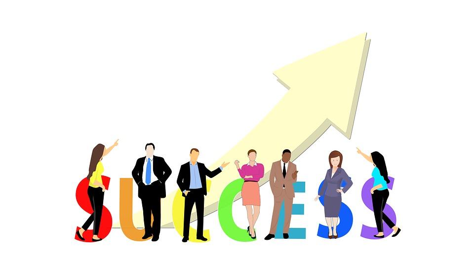 Success, Business, Businessmen, Plan, Tree, Growth