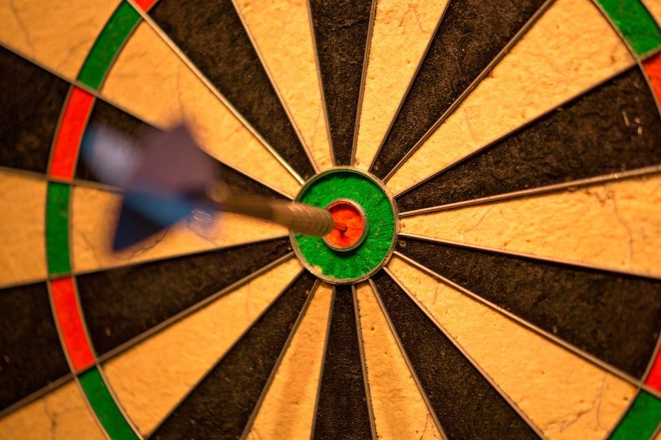 Bulls Eye, Bull, Darts, Game, Win, Success, Score