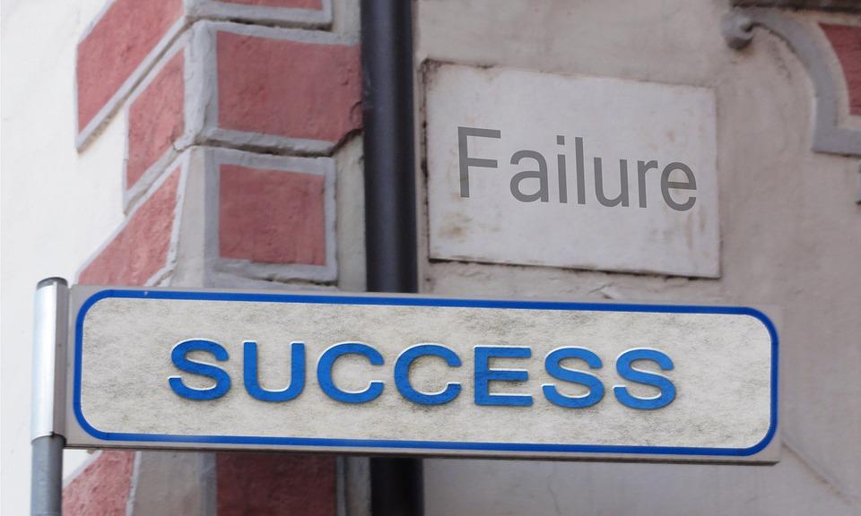Success, Failure, Street Sign, Shield, Traffic Sign