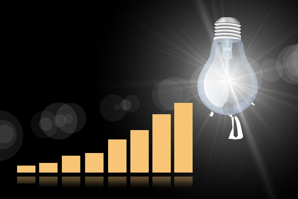 Success, Statistics, Businessman, Kaufmann, Light Bulb