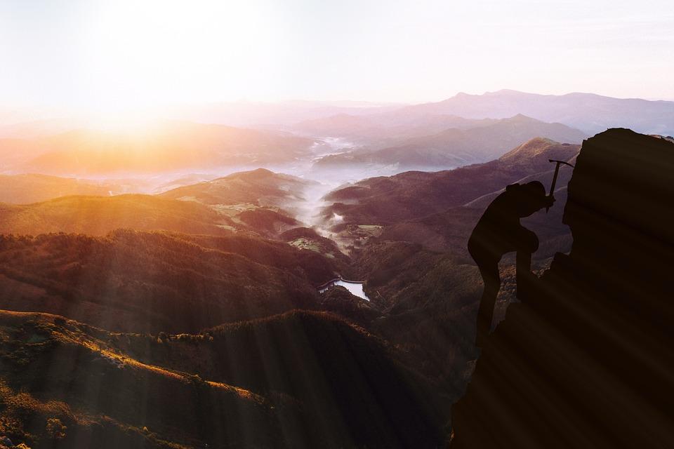 Climbing To The Top, Climb, Success, Mountaineering