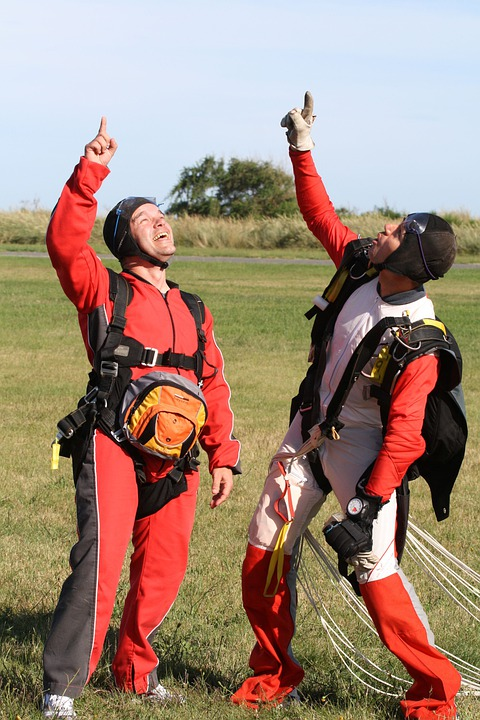 Parachutists, Skydivers, Skydive, Success, Parachuting