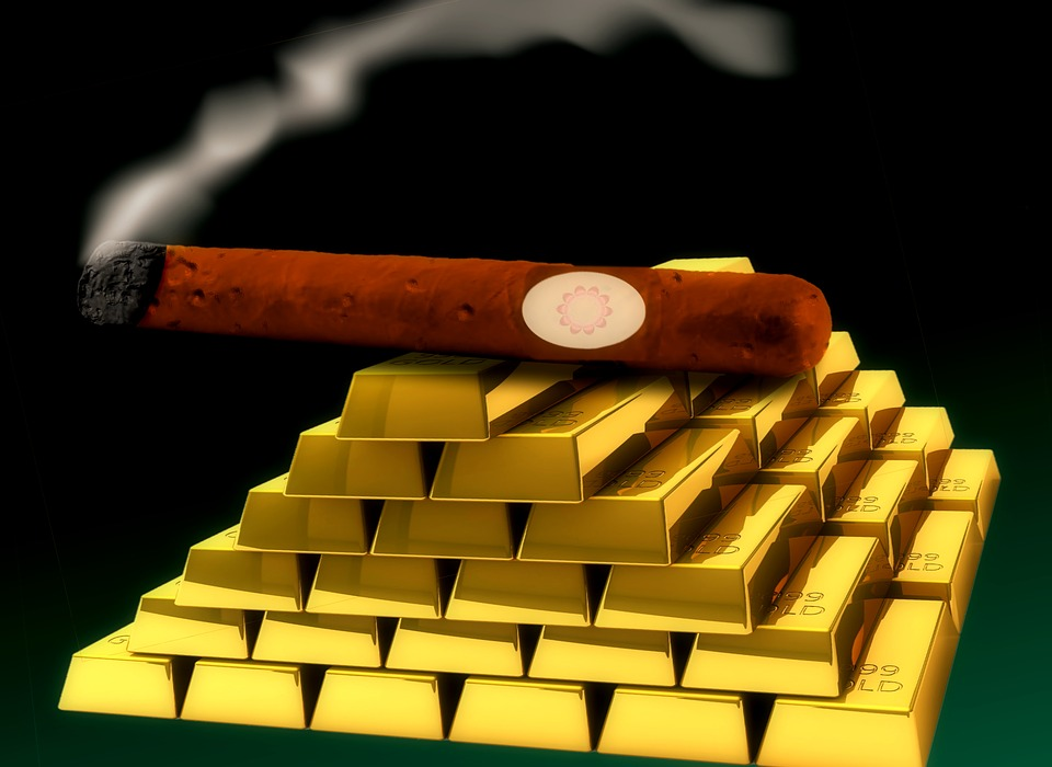 Cigar, Gold, Smoke, Wealth, Success, Successful