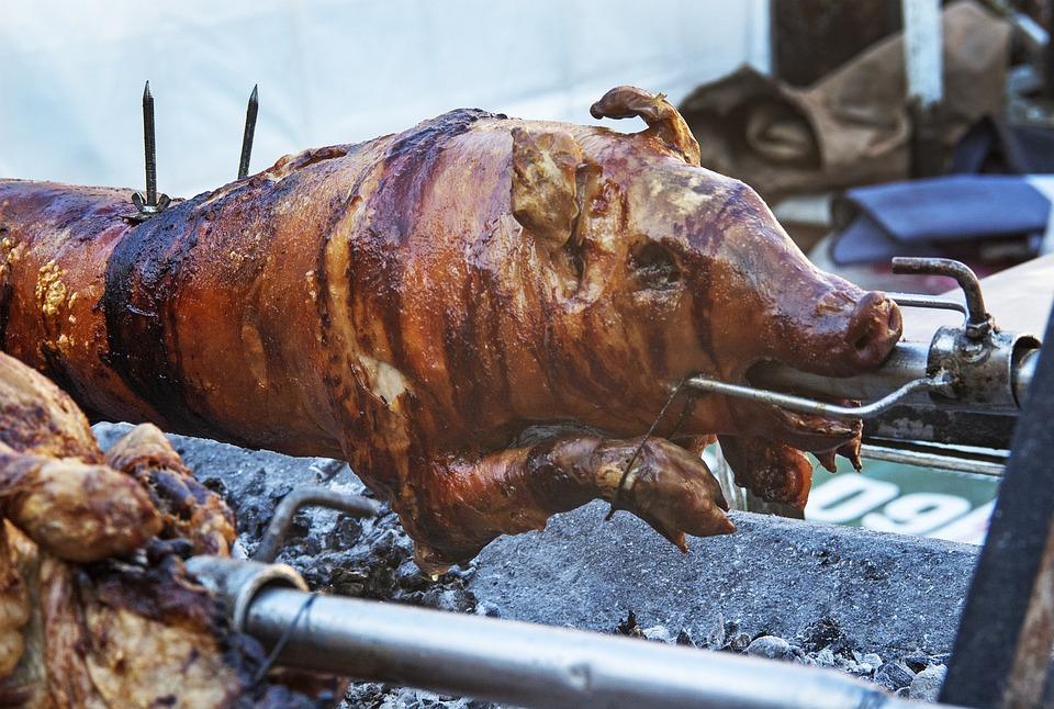 Suckling Pig, Pig Roast, Rotisserie, Barbecue, Crispy