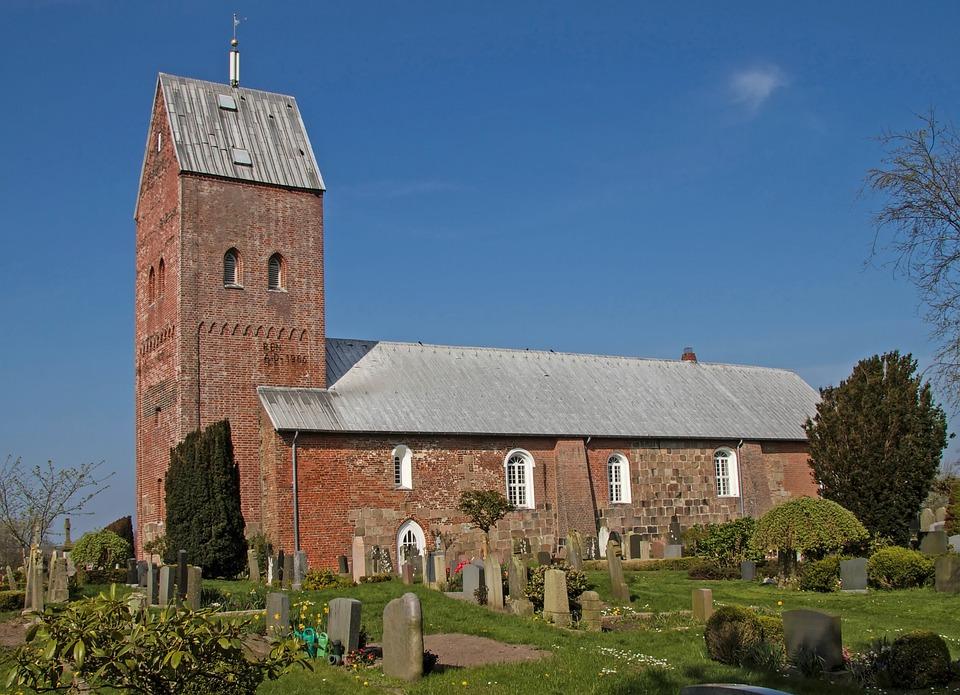 Church, St Laurenti, Süderende, Föhr, Nordfriesland