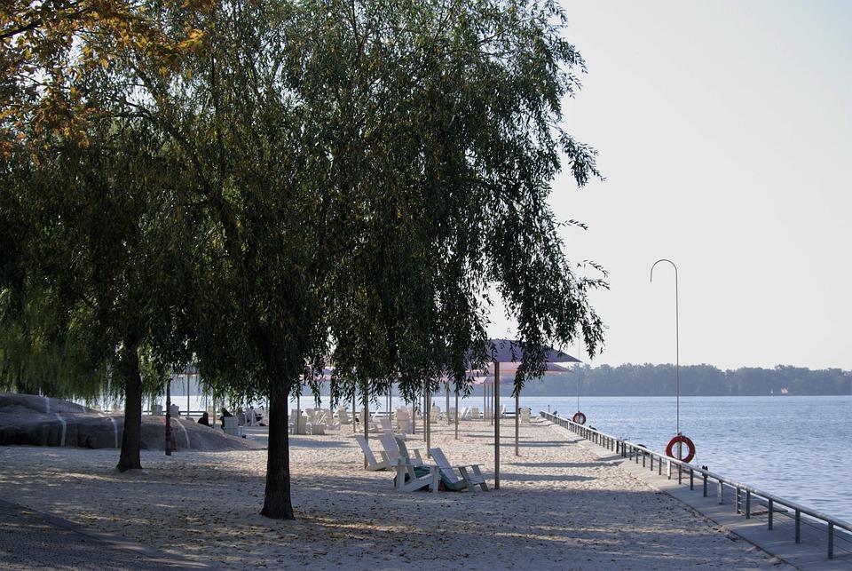 Toronto, Sugar Beach, Harbor, Tourism, Water, City