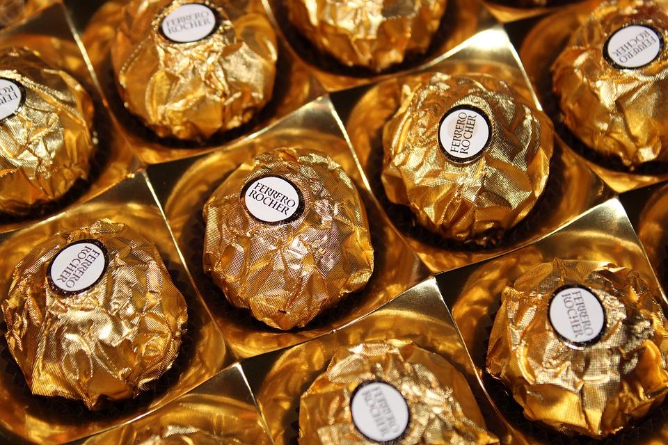 Ferrero Rocher, Chocolate, Sweet, Dessert, Sugar, Cocoa