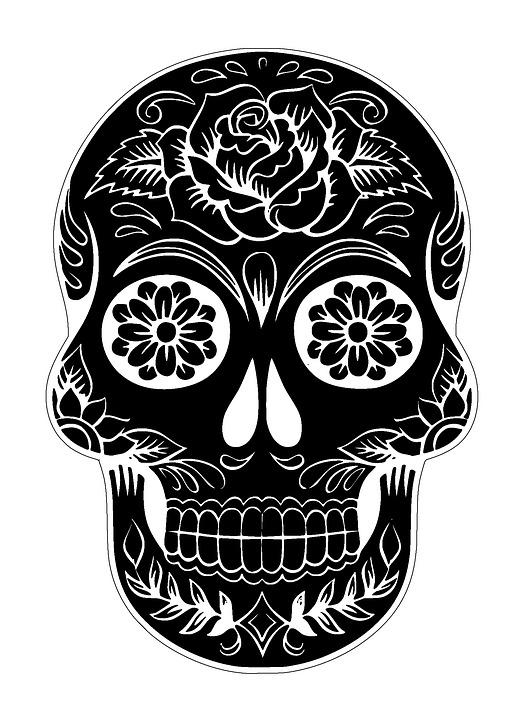 Well-known Free photo Sugar Skull Tattoo Skull Halloween Decoration - Max Pixel GQ72