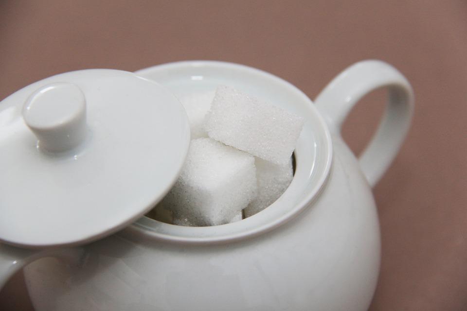 Sugar Bowl, Sugar, Sugar Lumps, Sugar Pieces, Sweet