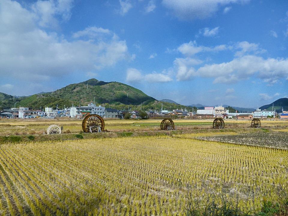Sukomo, Japan, Landscape, Scenic, Farm, Rural, Mountain