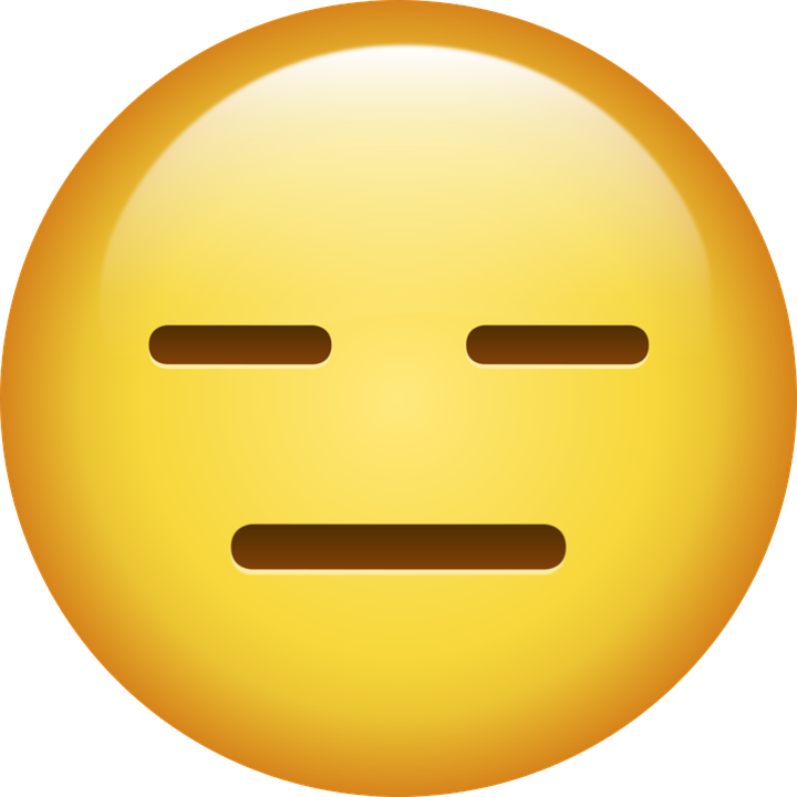 Emoji, Really, Sullen, Face, Without Expression, Bored