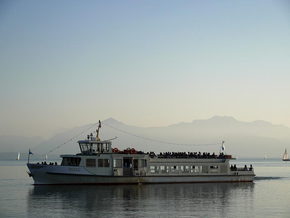 Bavaria, Alps, Boat, Summer, Idyllic, Lake, Germany