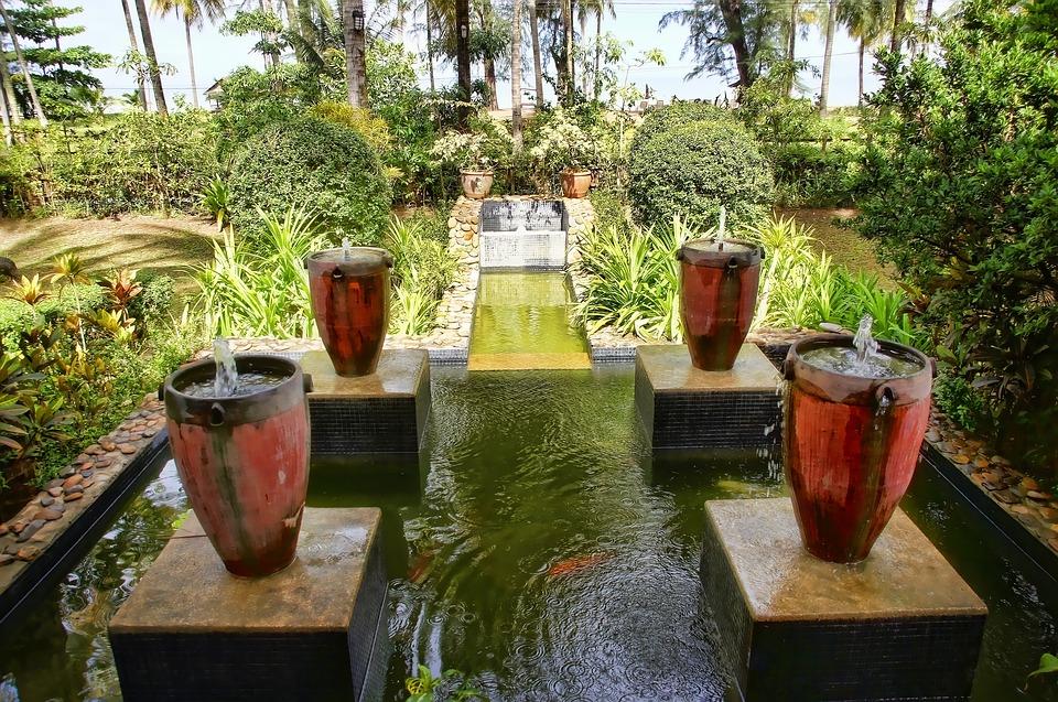 Thailand, Hotel, Stone, Asia, Summer, Water