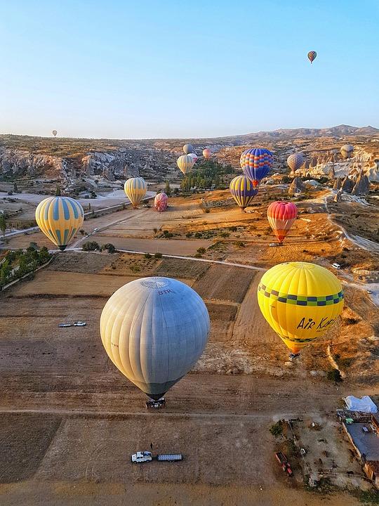 Cappadocia, Balloon, Summer, Heat, Rocks