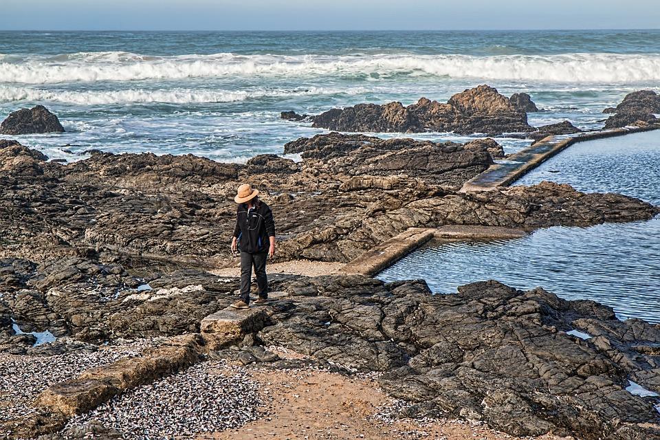 Alone, Beach, Rocks, Seaside, Sea, Ocean, Summer