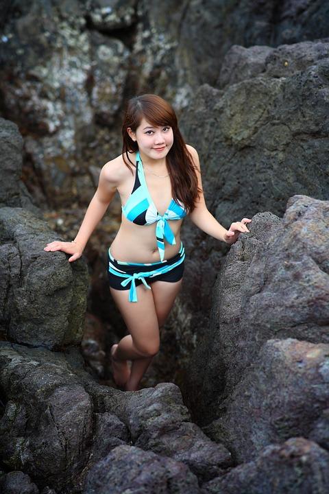 Bikini, Girl, Summer, Beach, People, Vacation, Travel