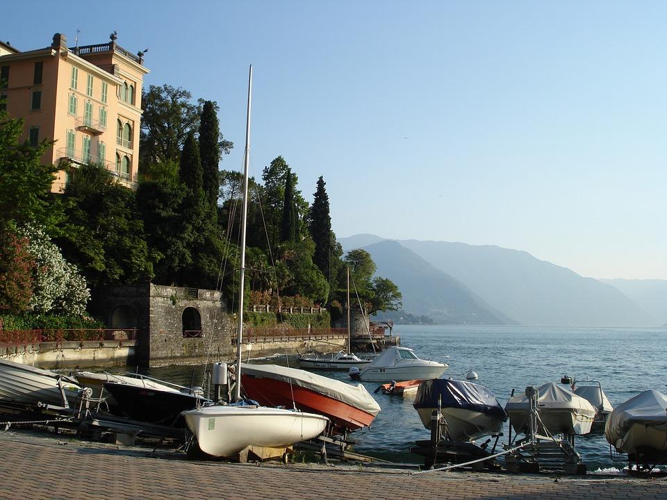 Lake Como, Lake, Summer, Vacations, Italy, Bank, Boats
