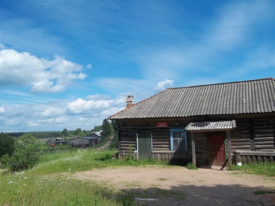 Russia, Buildings, Log Cabin, Nature, Outside, Summer