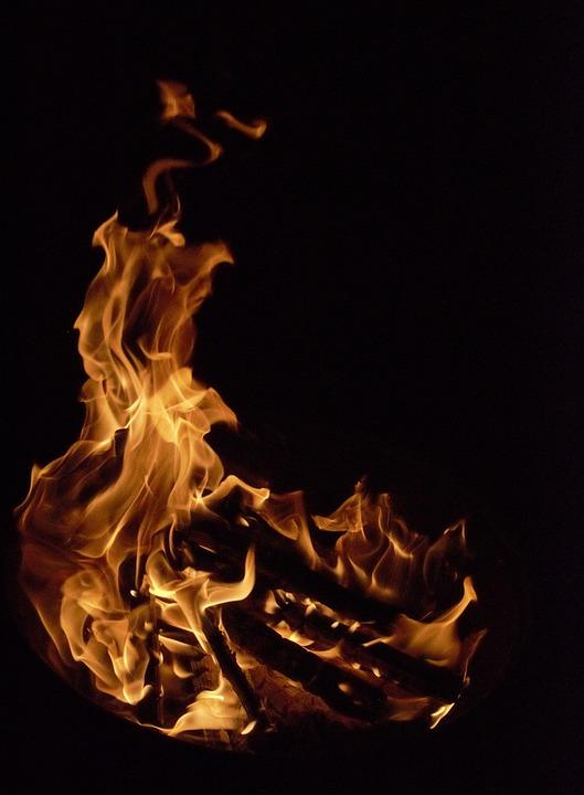 Fire, Campfire, Summer, Flame, Wood, Heat, Lighting