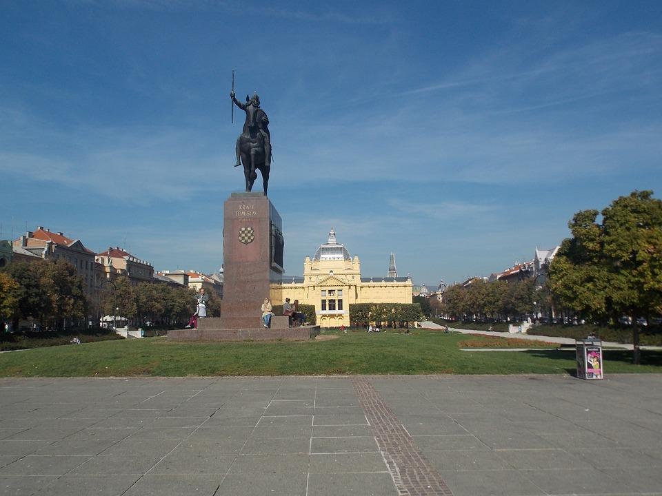 Zagreb, Croatia, City, Square, Summer, Monument