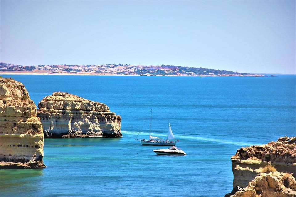 Ocean, Rocks, Cliff, Boats, Atlantic, Summer, Travel
