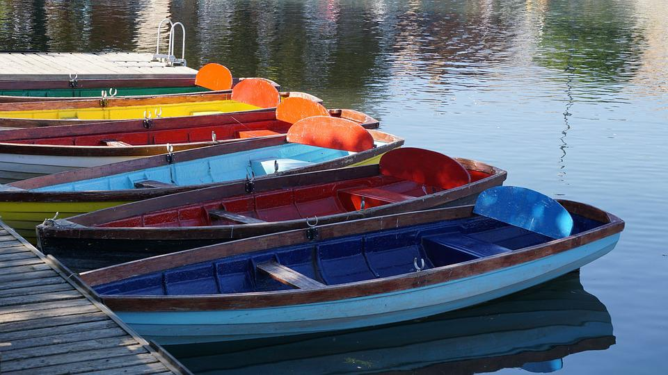 Colourful, Boats, Row Boats, Summer, Calm, Water