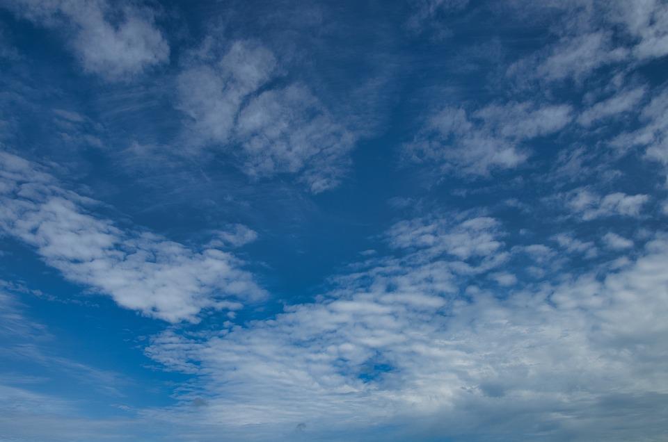Clouds, Blue, Summer, Sky, Cirrocumulus, Cumulus, White