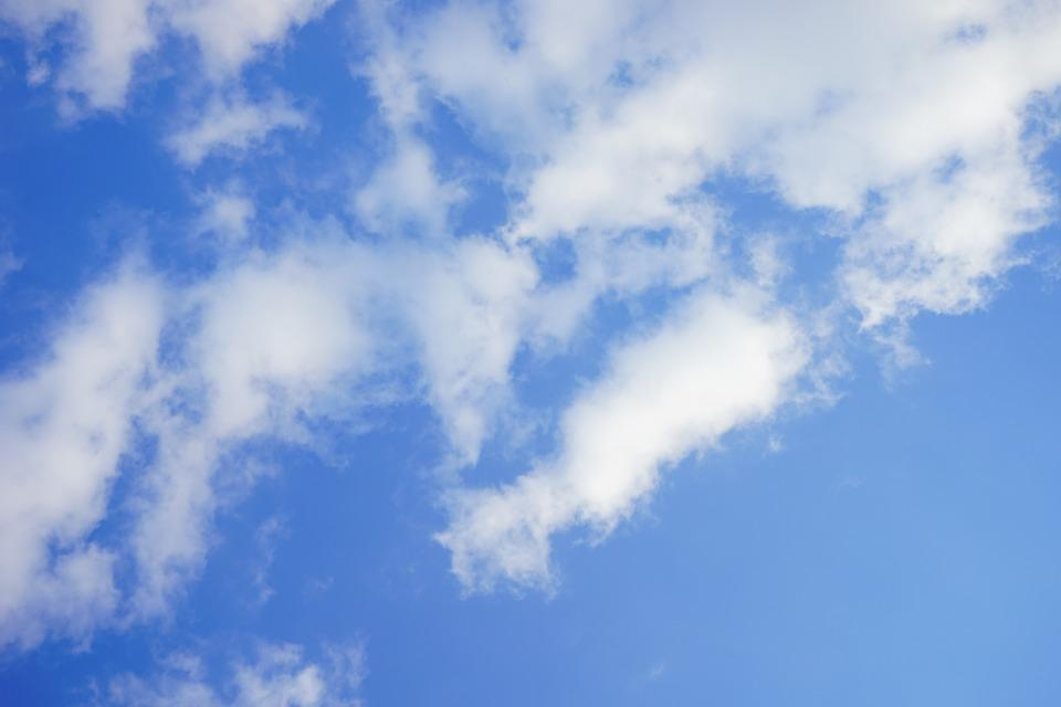 Sky, Clouds, Cloudiness, Blue, Summer Day