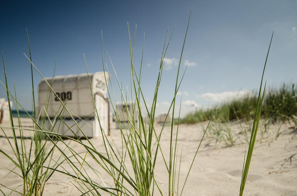 Beach Chair, Dunes, Beach, Sea, North Sea, Summer