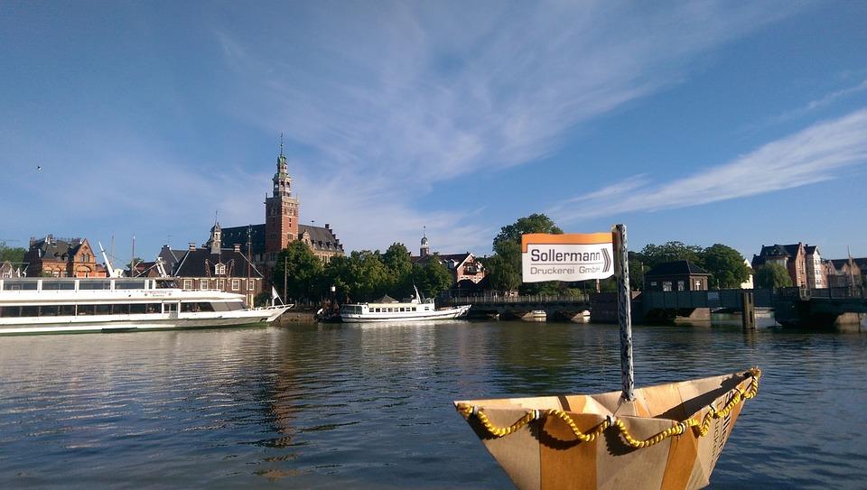 Port, Paper Boat, Summer, East Frisia