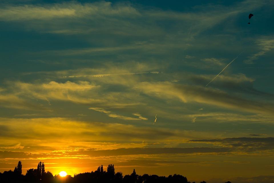 Sunset, End Of Day, Summer, Nature, Landscape, Blue