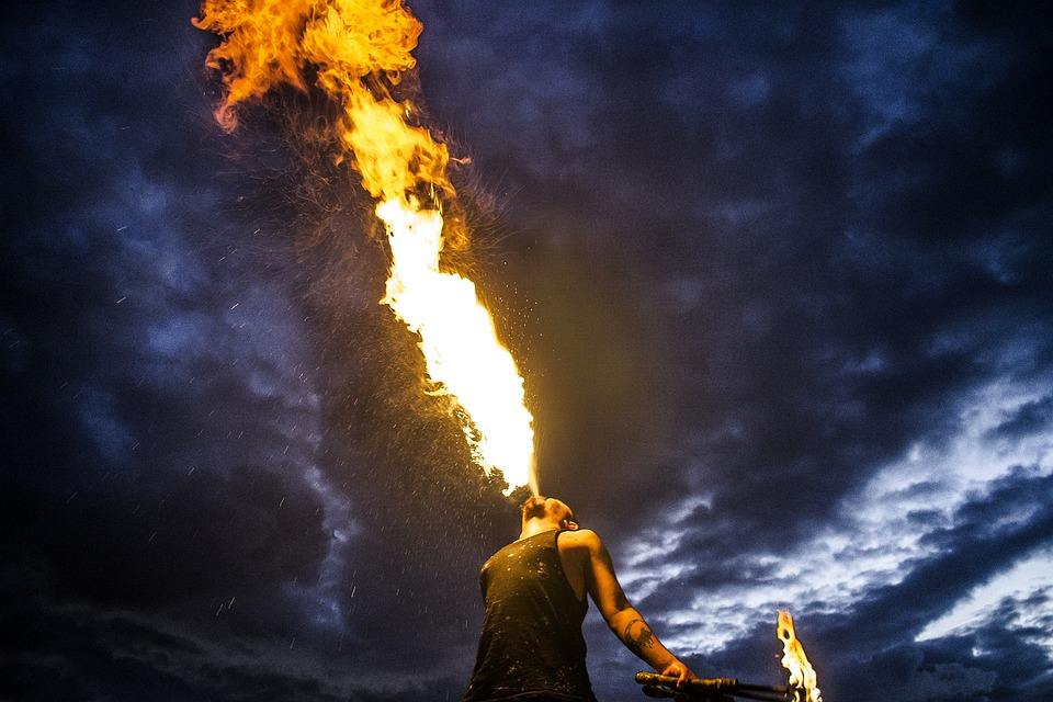 Fire, Circus, Festival, Summer, Firebreathing