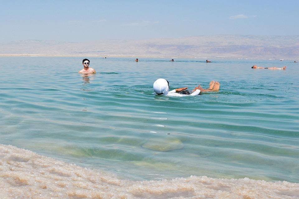 Dead See, Floating, Friends, Summer, Adventure, Water