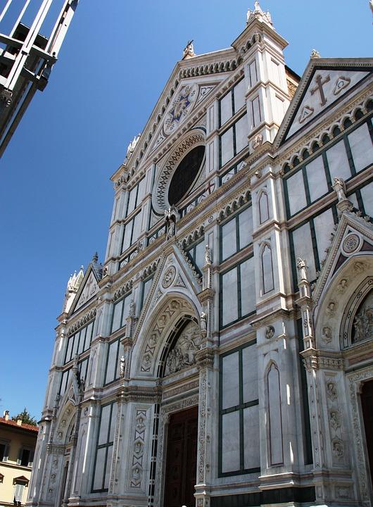 Church, Florence, Italy, Churches, Summer, Sky, Blue