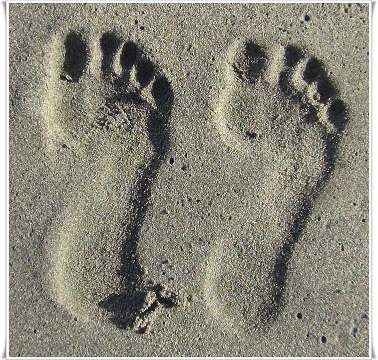 Footprint, Sand, Summer