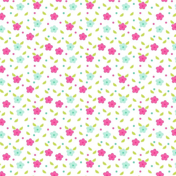 Flowers, Pink, Blue, Green, Cute, Girl, Plant, Summer