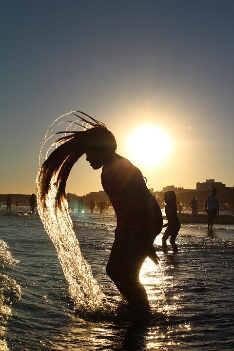 Girl, Water, Hair, Summer, People, Young, Fun, Female