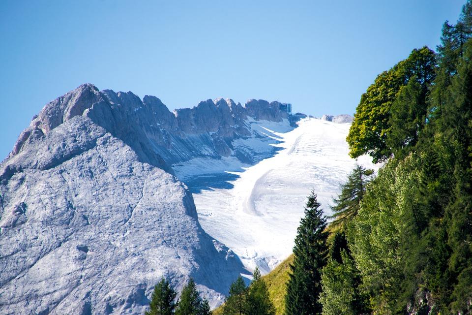 Marmolada, Glacier, Summer Glacier, Dolomites