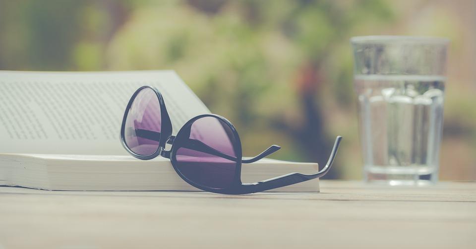 Summer, Desktop Background, Read, Drink, Glasses