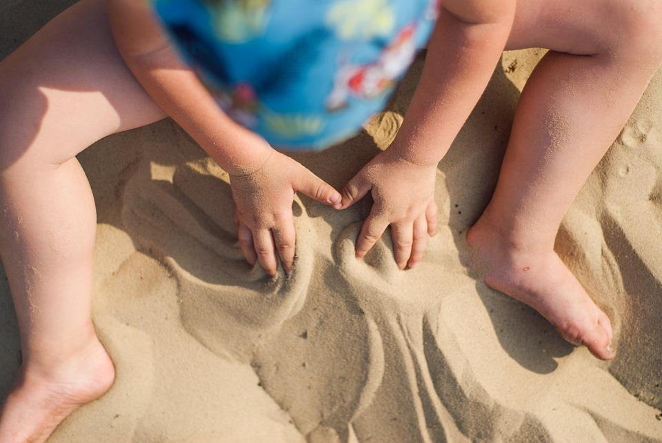 Sand, Fun, Greece, Summer, Beach, Sea, Happy, Child