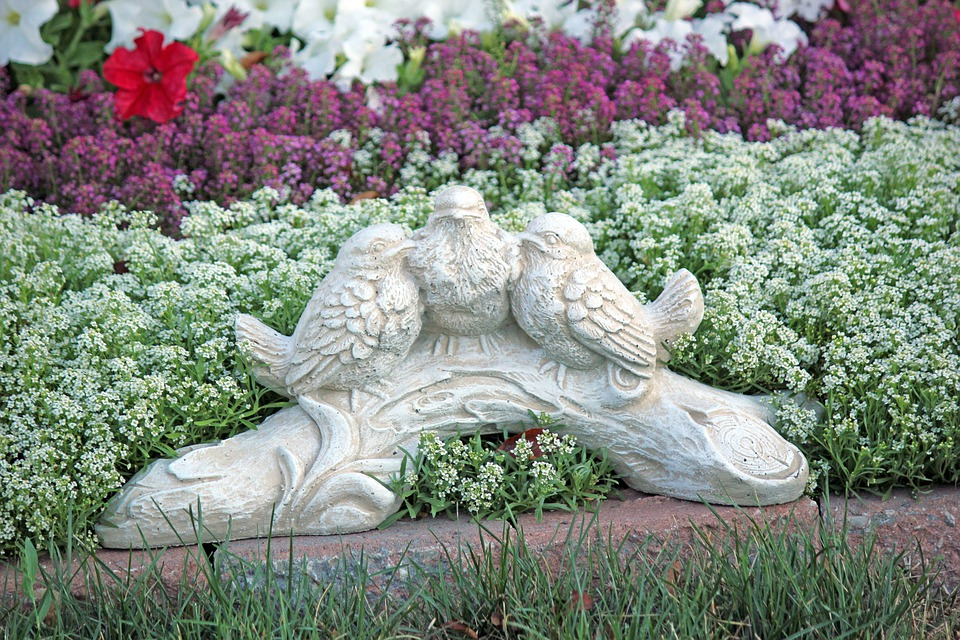 Ornaments, Lawn, Birds, Green, Nature, Summer, Plant