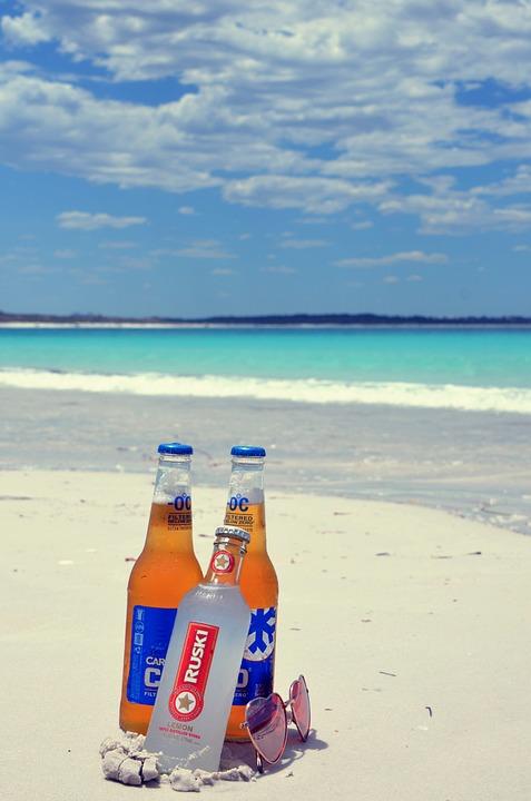 Beach, Beer, Sand, Summer Holiday, Sunglasses