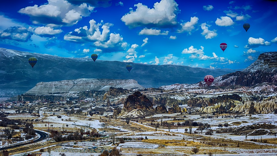 Hot Air Balloons, Landscape, Summer, Countryside