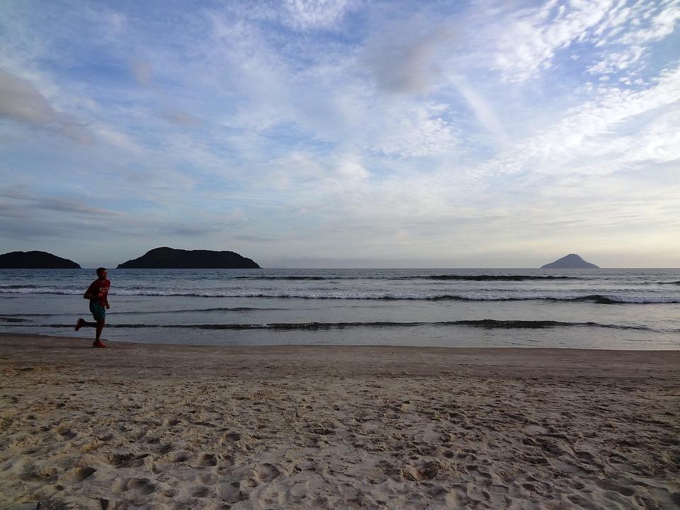 Beach, Holidays, Race, Exercise, Summer Jogging