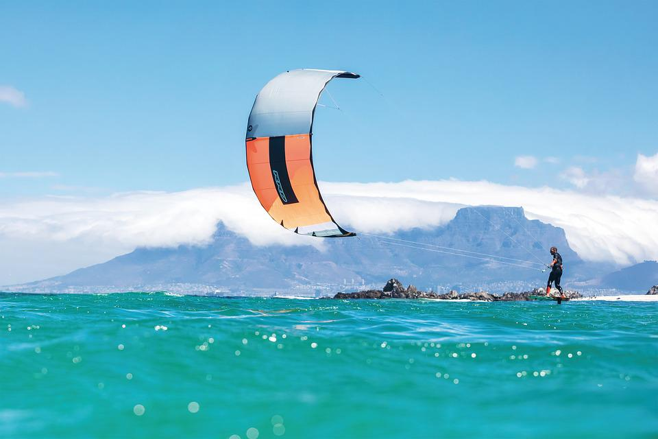 Kite Surfing, Kitesurfing, Sea, Water Sports, Summer