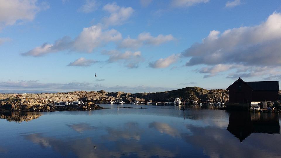 Summer, Sea, Norway, Blue Sky, Lagoon, Fedje