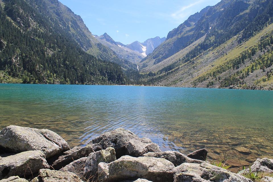 Lake, Mountain, Summer, Gaube Lake, Hiking, Blue