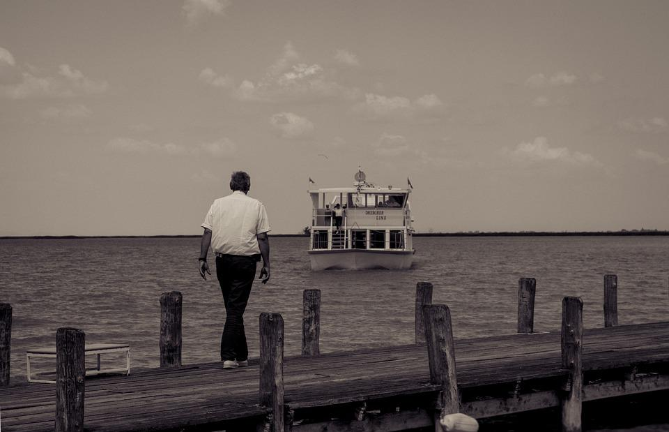 Fertő-tó, Ship, Lake, Water, Sky, Summer, Waters